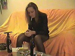 Smoking Bitch gonna do a good Bottle Fuck
