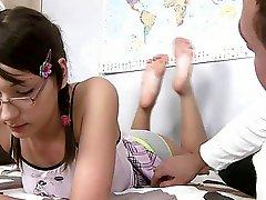 Teenie anal and bj