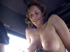 Lady with trucker