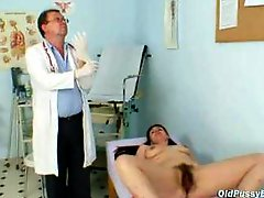 Aged Woman Goes For Weird Vagina Exam