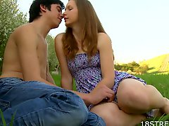 Great Outdoor Sex With The Blonde Teen Klara