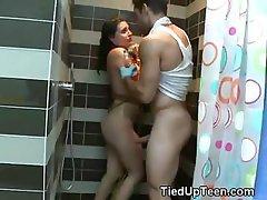 Teen Disgraced In Shower