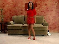 Ebony Nylon Foot Tease