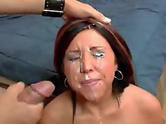 Girls on their knees in facial compilation