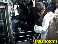 Shocked shy Teen groped in Bus