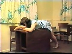 Super rare nylon panty spanking video