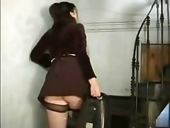 Maid Spying Couple in Hotel Room