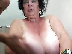 FRENCH BBW 65YO GRANNY OLGA FUCKED BY 2 MEN - DP