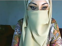 Beautiful Hot Arab Babe Hijabi Slut Flashing Tits