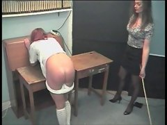 hard caning two pupils