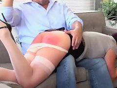 Mommy gets spanked by son for being naughty
