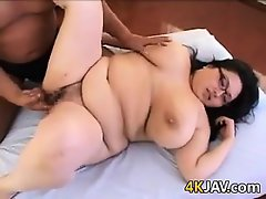 Fat Japanese Nerd Having Sex