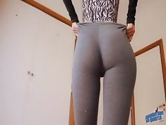 Perfect Bubble Butt Teen. Tiny Waist, Big Ass, Big Cameltoe!