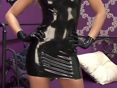 Natasha Black Latex Sleeveless Dress