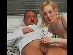 Blond woman has sex with huge cock doctor