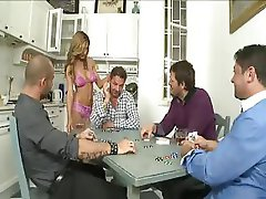 Sandra Romain's Little Sister Bitch does her First Gangbang