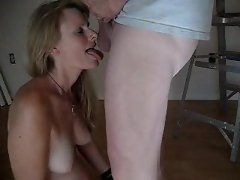 Laurie Smith sucking and swallow