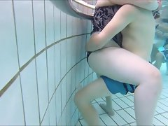 couple with fat girl underwater view
